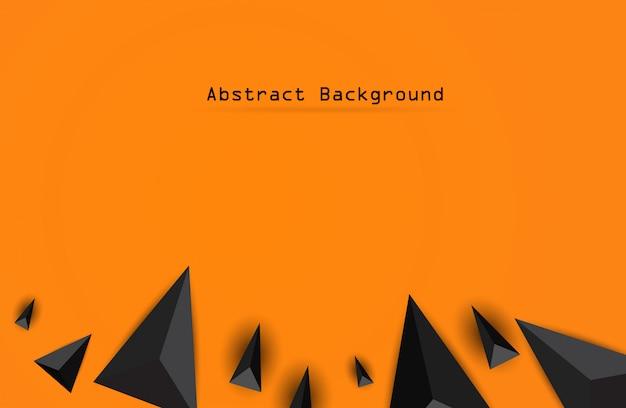Astratto sfondo nero geometrico 3d.