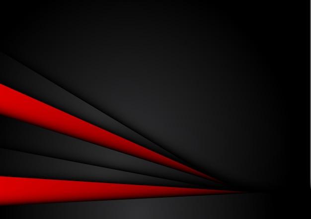 Astratto sfondo nero rosso metallico
