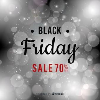 Astratto sfondo nero vendita di venerdì con glitter
