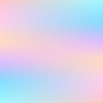 Astratto sfondo olografico con colori pastello
