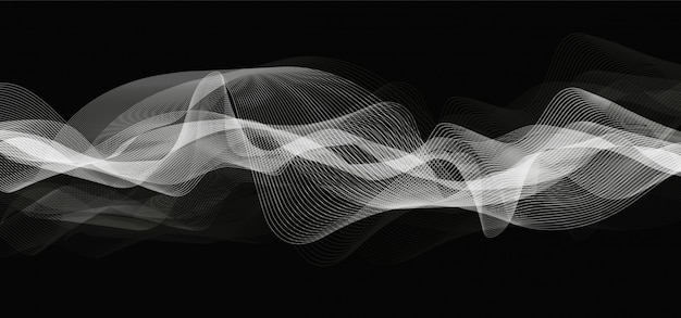 Astratto sfondo ondulato