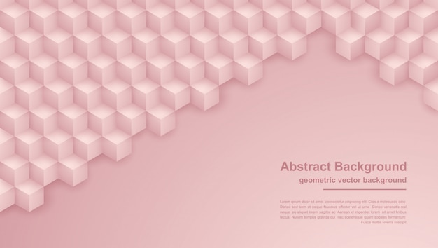 Astratto sfondo rosa trama con forme esagonali.