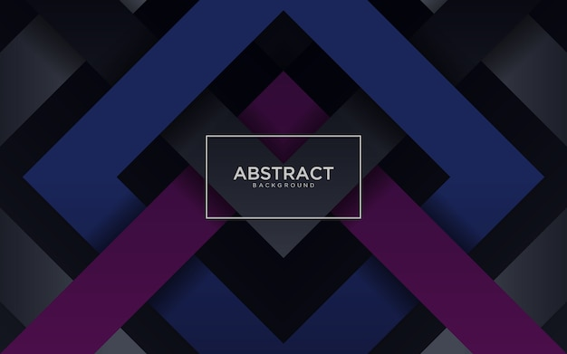 Astratto sfondo scuro con forma geometrica blu e viola