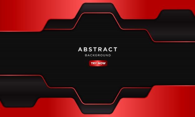 Astratto sfondo sport rosso scuro con forma esagonale.