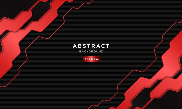 Astratto sfondo tecnologia rosso scuro con forma sovrapposta.