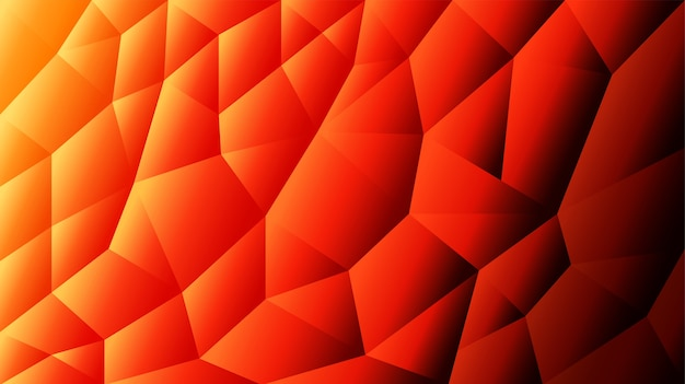 Astratto sfondo triangolato sfondo arancione sfondo rosso