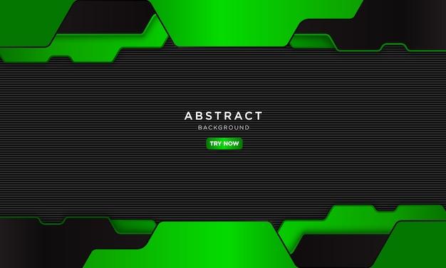 Astratto sfondo verde con forma moderna, futuro concetto robotico