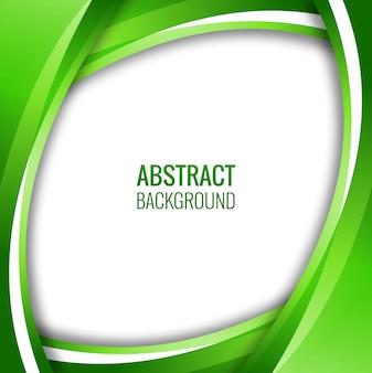 Astratto sfondo verde creativo ondulato