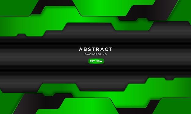 Astratto sfondo verde nero con forma moderna, futuro concetto robotico