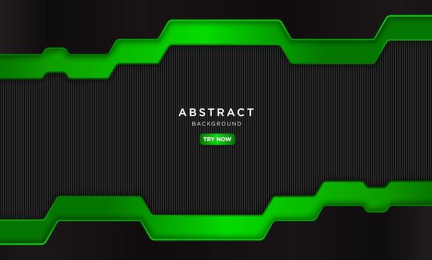 Astratto sfondo verde nero con forma moderna.