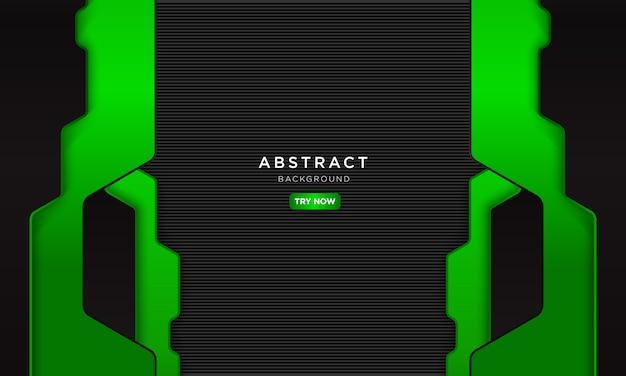 Astratto sfondo verde nero con futuro concetto robotico