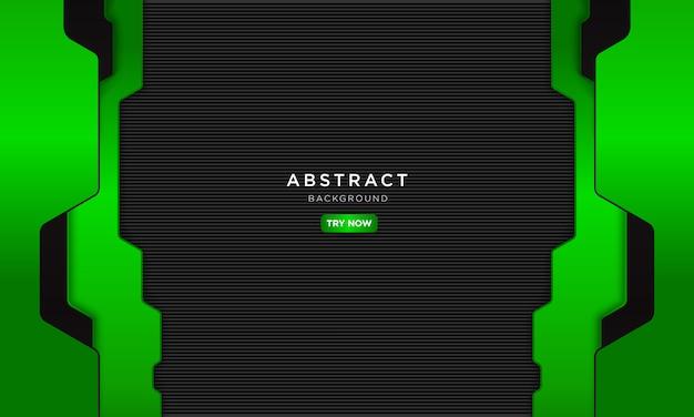 Astratto sfondo verde nero, futuro concetto robotico