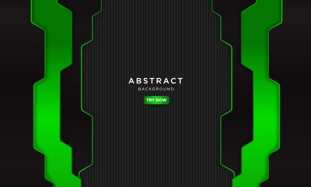 Astratto sfondo verde scuro con forma moderna, futuro concetto robotico