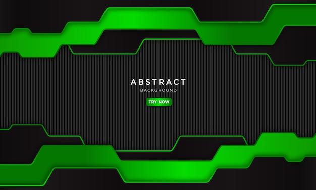 Astratto sfondo verde scuro con il futuro concetto robotico
