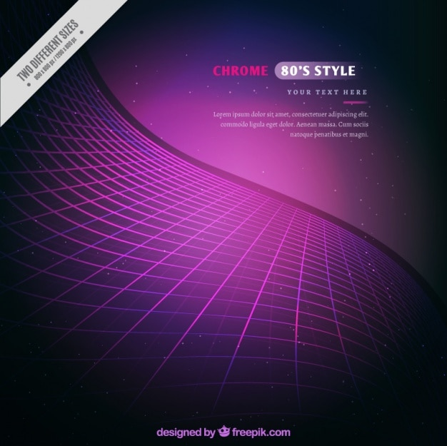 Astratto sfondo viola griglia ondulato