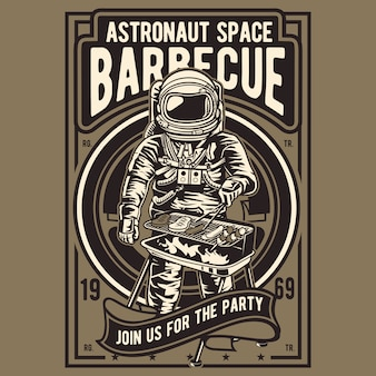 Astronaut space barbecue