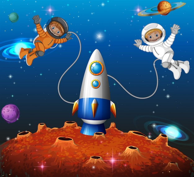 Astronauta nello spazio