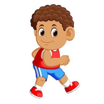 Atleta che corre uomo