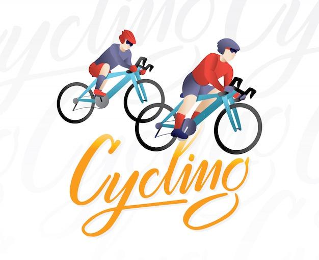 Atleta ciclista in bicicletta