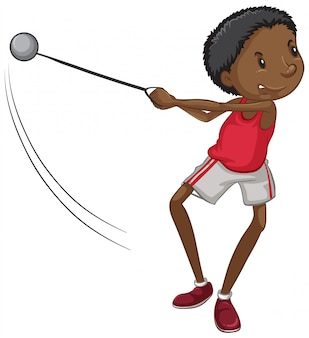 Atleta facendo lancio del martello