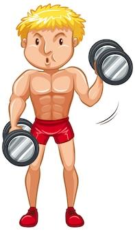 Atleta facendo sollevamento pesi