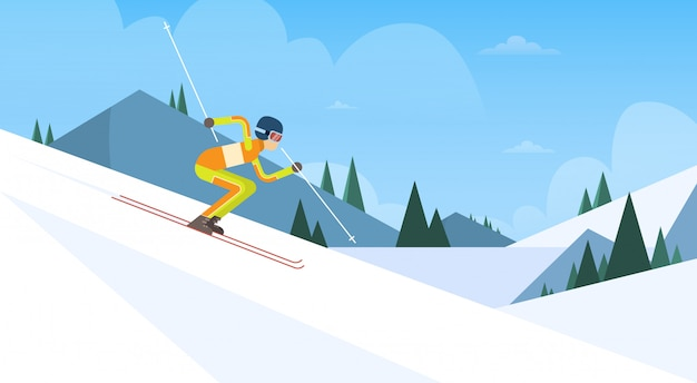 Atleta skiing winter competition