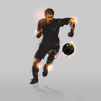 Attaccante di calcio astratta