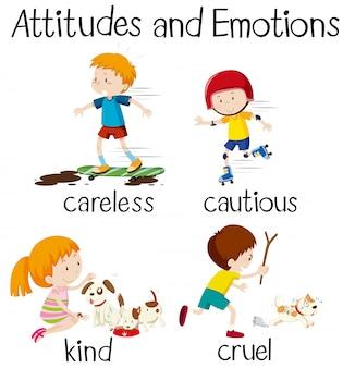 Atteggiamenti ed emozioni di parole inglesi