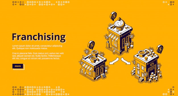 Atterraggio isometrico in franchising, attività in franchising