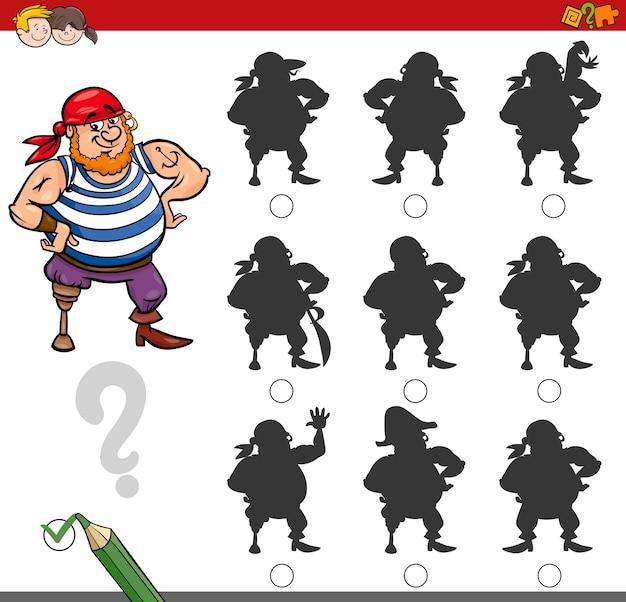 Attività di gioco ombra con pirata