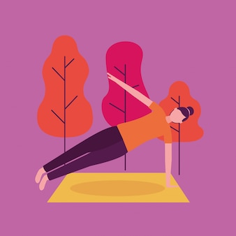 Attività di yoga delle persone
