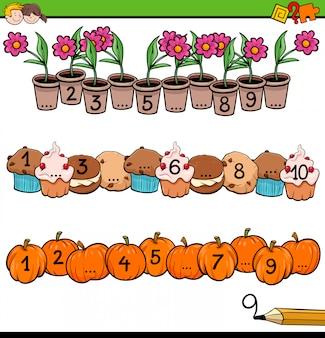 Attività matematiche educative con contare fino a dieci