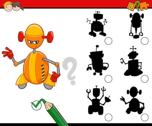Attività silhouette con robot
