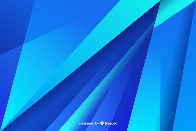 Attraversamento diagonale di forme blu astratte