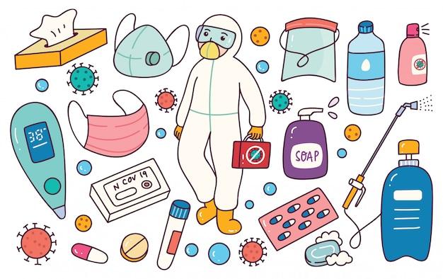 Attrezzatura di prevenzione per il virus corona