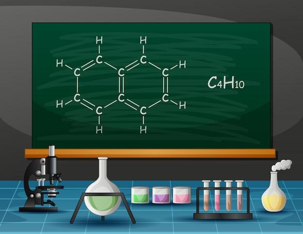 Attrezzature chimiche e molecolari in laboratorio