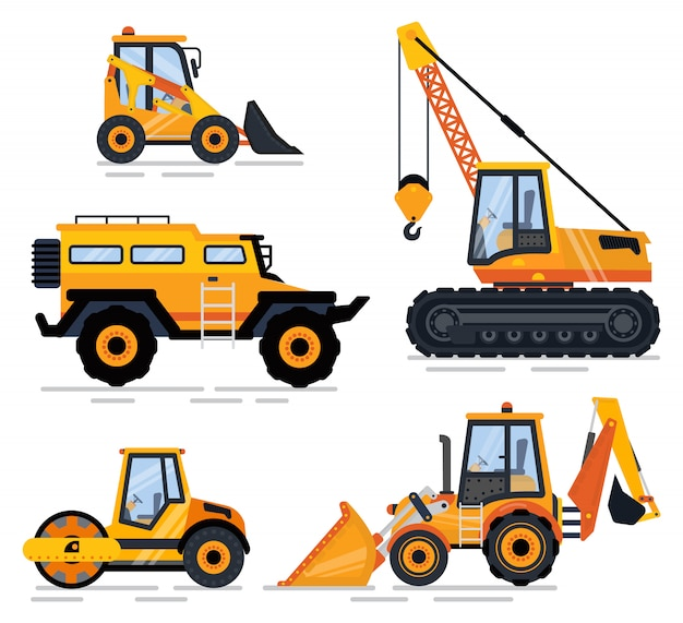 Attrezzature e macchinari per l'edilizia, trasporti