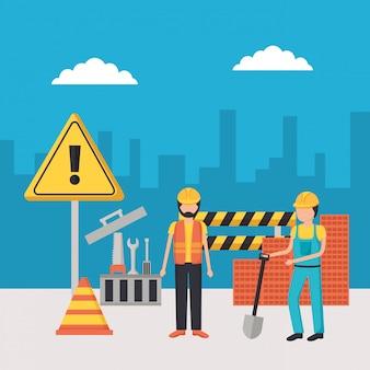 Attrezzature per l'edilizia dei lavoratori