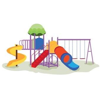 Attrezzature per parchi giochi per bambini con altalene