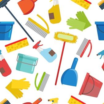 Attrezzature piatte per la casa, prodotti per la pulizia.