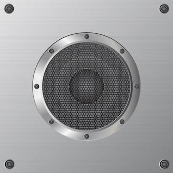 Audio illustrazione dell'altoparlante isolata su bianco