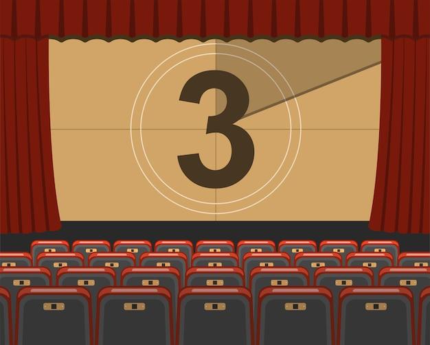 Auditorium del cinema con posti a sedere