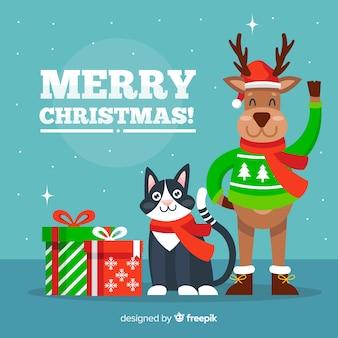 Auguri di animali di Natale