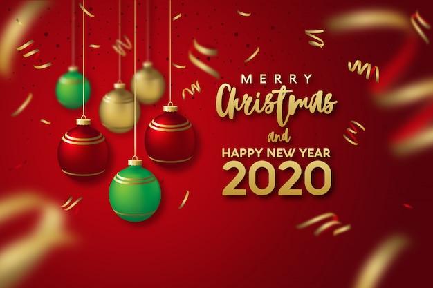 Auguri di buon natale e felice anno nuovo 2020