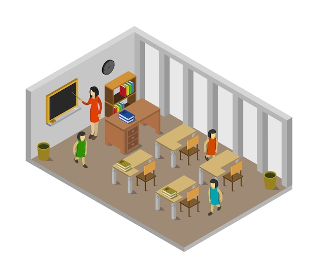 Aula della scuola isometrica