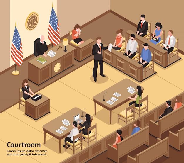 Aula di tribunale isometrica