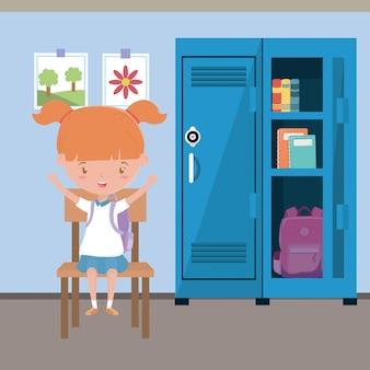 Aula e ragazza di scuola