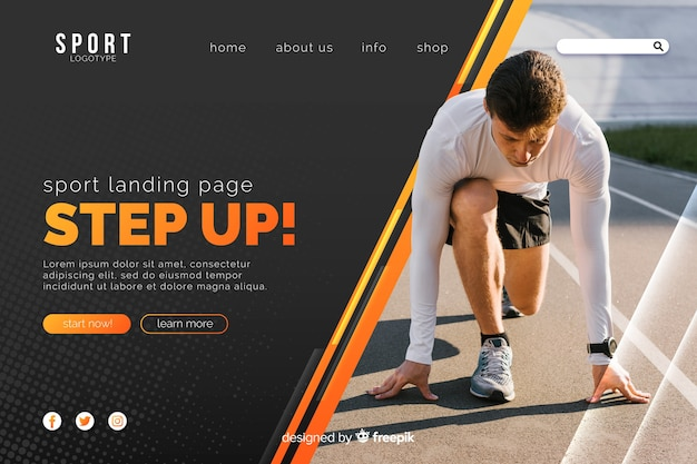 Aumenta la pagina di destinazione dello sport