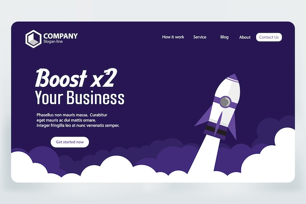 Aumentare il modello di vettore di pagina di destinazione sito web aziendale