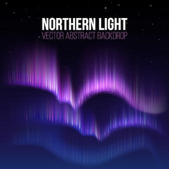 Aurora artica, aurora boreale in alaska polare